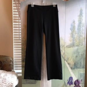 Black wide leg yoga pants